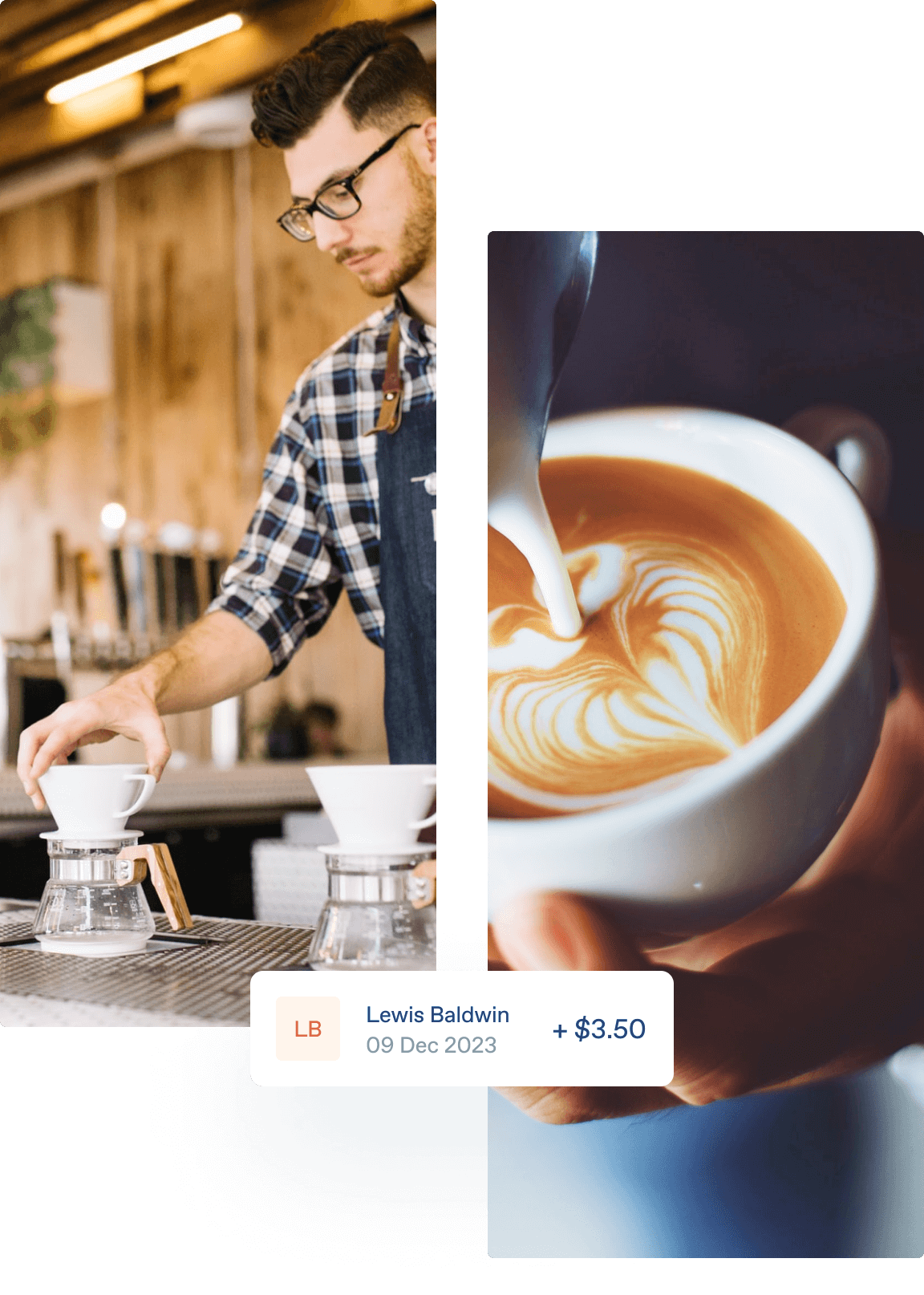 Cafe owner uses Zeller at his business.